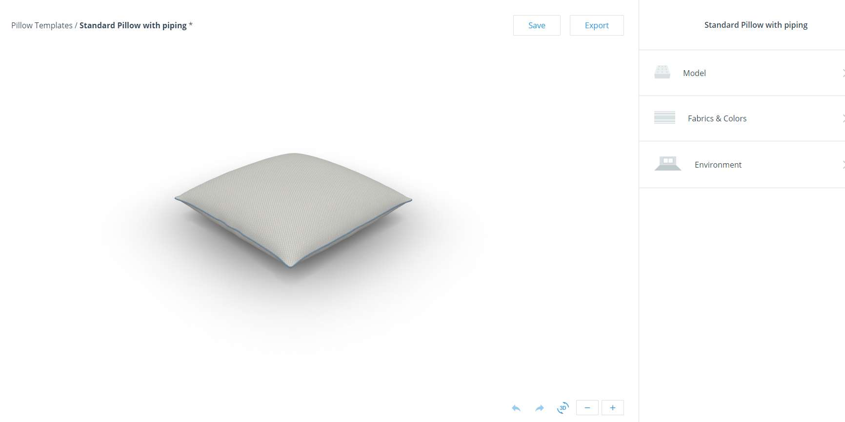 3D PILLOW CONFIGURATOR - Create pillows online!